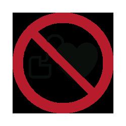 Panneau interdicton d´entrée aux porteurs d´un stimilateur cardiaque