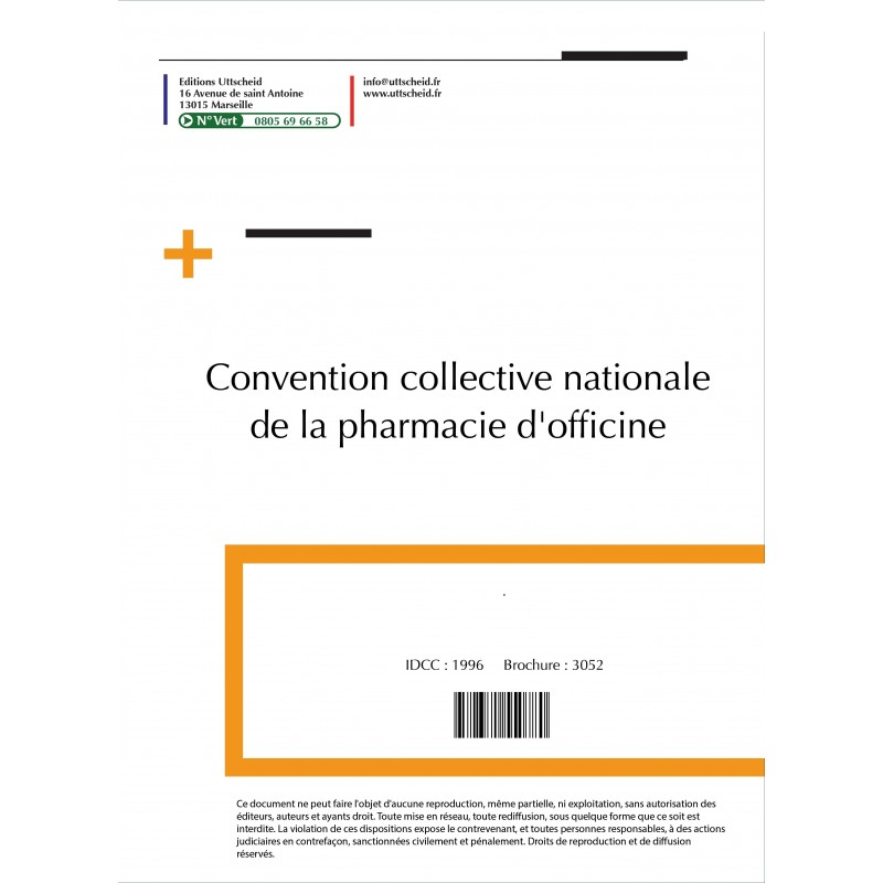 Convention collective nationale Pharmacie 2015 + Grille de Salaire