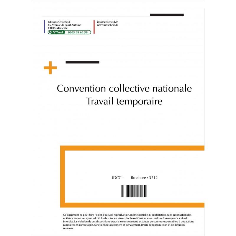 Convention collective nationale Travail temporaire 2015 + Grille de Salaire