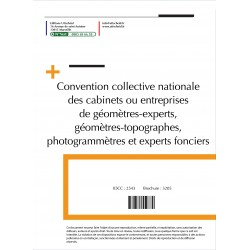 Convention collective nationale Géomètre Avril 2018 + Grille de Salaire