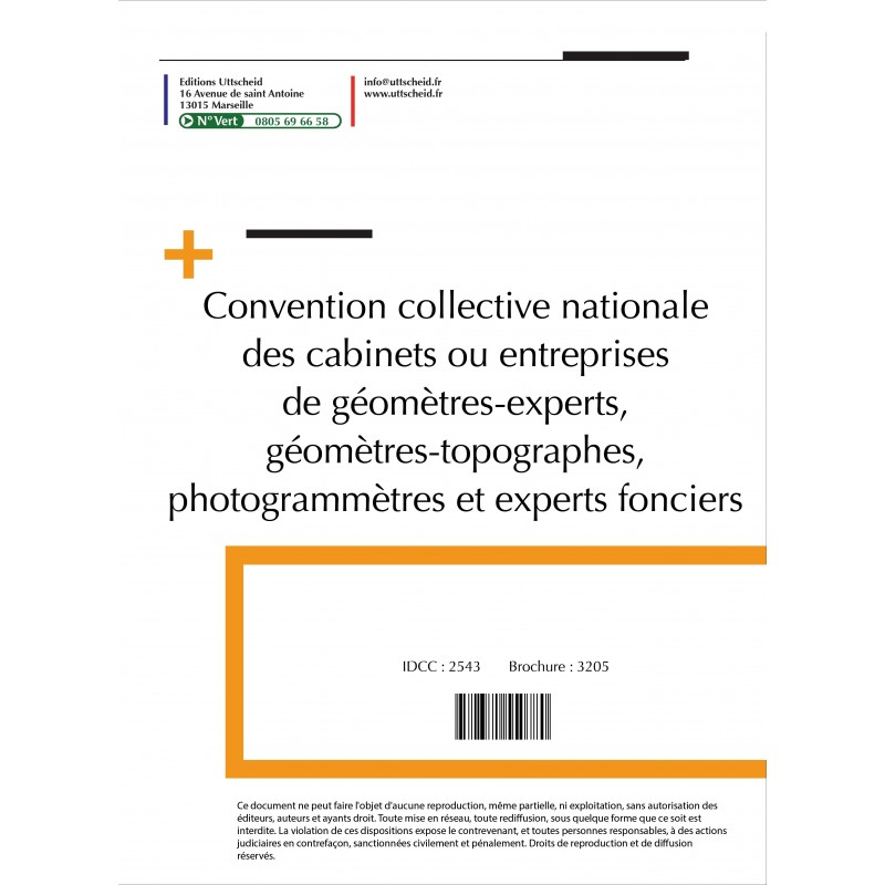 Convention collective nationale Géomètre 2015 + Grille de Salaire
