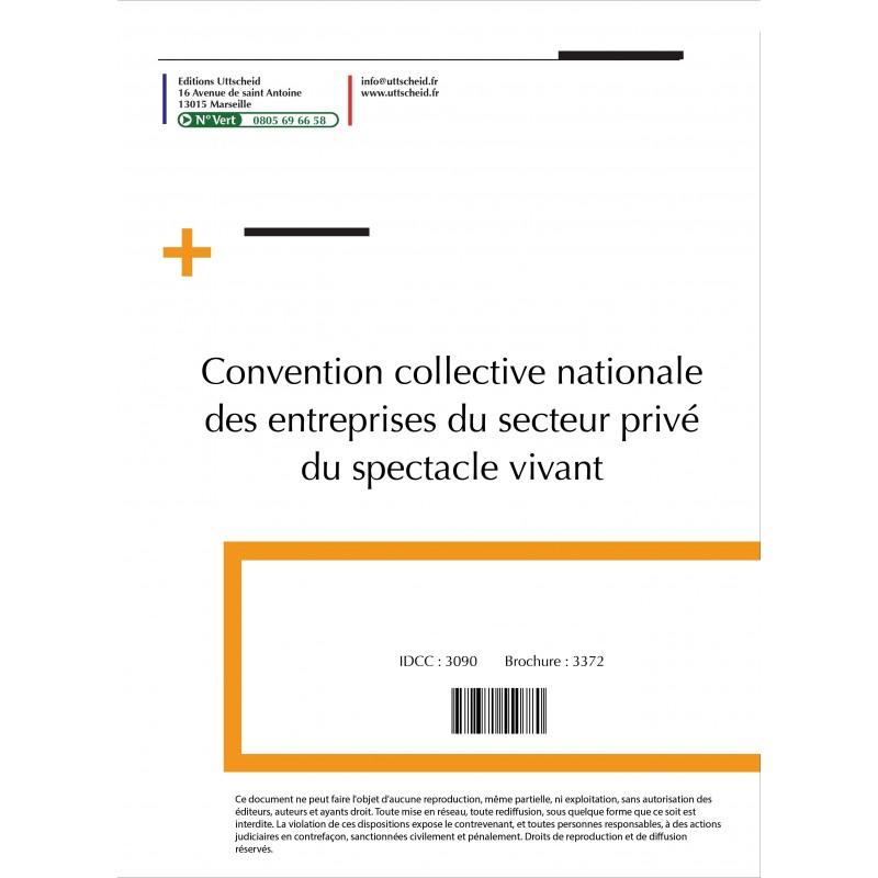 Convention collective nationale des entreprises du secteur privé du spectacle vivant 2015 + Grille de Salaire