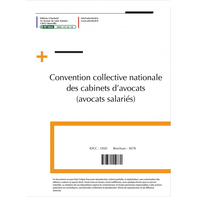 Convention collective nationale Cabinets Avocats 2015 + Grille de Salaire