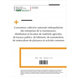 Convention collective nationale Location Maintenance Machines 2015 + Grille de Salaire