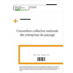 Convention collective nationale Paysagistes (hors cadre) Septembre 2018 + Grille de Salaire