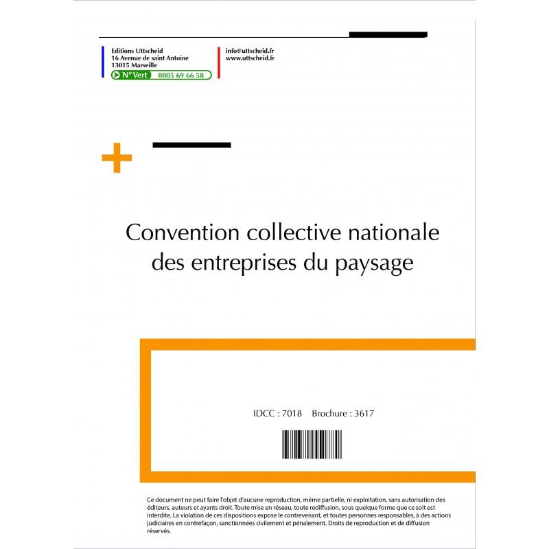 Convention collective nationale Paysagistes (hors cadre)  2015 + Grille de Salaire