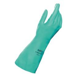 10 paires de Gants protection chimique nitrile vert Ultranitril - Mapa