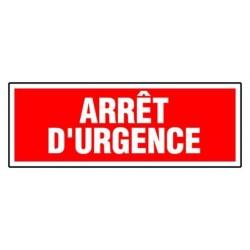 Panneau arrêt d'urgence