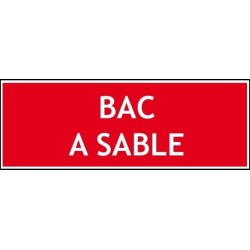 Bac à sable - Autocollant vinyl waterproof - L.200 x H.100 mm