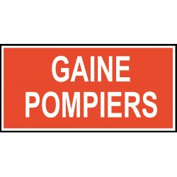 Gaine pompiers - Autocollant vinyl waterproof - L.200 x H.100 mm