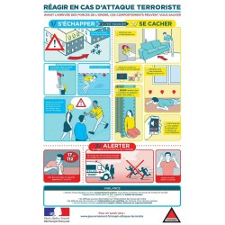 Affiche Réagir en cas d'attaque terrosiste