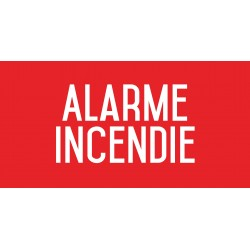 Alarme incendie - Autocollant vinyl waterproof - L.200 x H.100 mm
