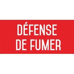 Défense de fumer - Autocollant vinyl waterproof - L.200 x H.100 mm