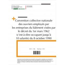 Convention collective nationale Bâtiment plus de 10 salariés Avril 2018 + Grille de Salaire