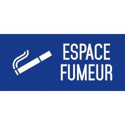 Espace fumeur - Autocollant vinyl waterproof - L.200 x H.100 mm