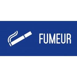 Fumeur - Autocollant vinyl waterproof - L.200 x H.100 mm