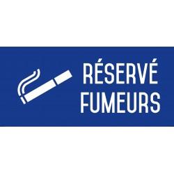 Réservé fumeurs - Autocollant vinyl waterproof - L.200 x H.100 mm