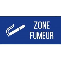 Zone fumeur - Autocollant vinyl waterproof - L.200 x H.100 mm