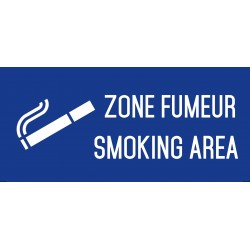 Zone fumeur smoking area - L.200 x H.100 mm