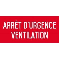 Arrêt d'urgence ventilation - L.200 x H.100 mm