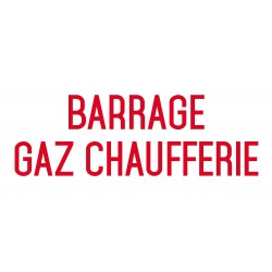 Barrage gaz chaufferie - L.200 x H.100 mm