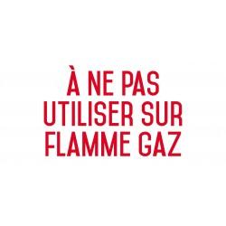 A ne pas utiliser sur flamme gaz - Autocollant vinyl waterproof - L.200 x H.100 mm