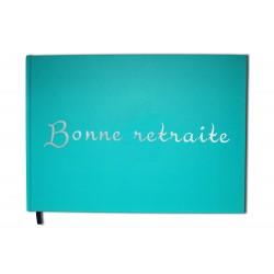 Bonne retraite : Carnet, album bleu - Format A4 paysage - Couverture mate, lettres miroir -100 pages - Qualité premium