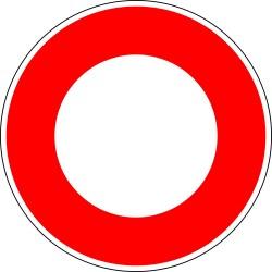 Circulation interdite à tout véhicule dans les deux sens - Autocollant vinyl waterproof - Diamètre de 200 mm
