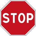 Panneau stop  - Autocollant vinyl waterproof - Diamètre de 200 mm