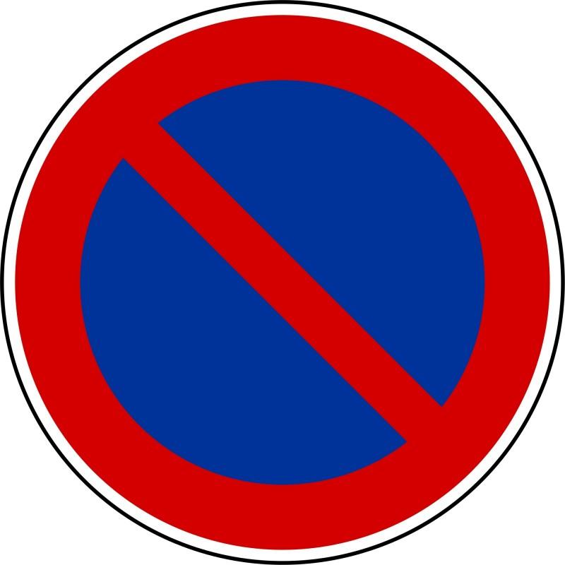 Stationnement interdit - Autocollant vinyl waterproof - Diamètre de 200 mm