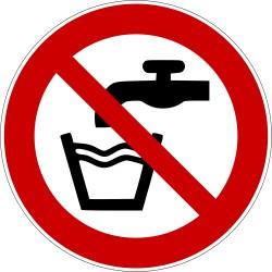 Eau non potable - Autocollant vinyl waterproof - Diamètre de 200 mm