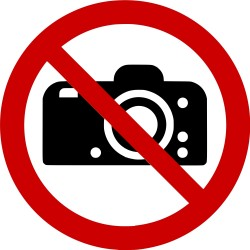 Panneau interdiction de photographier