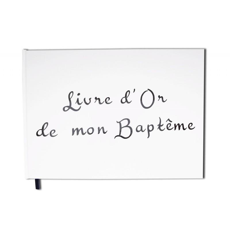 Livre D Or Bapteme Blanc Paysage Couverture Mate Qualite Premium