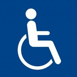 Accès handicapés - Autocollant vinyl waterproof - L.210 x H.210 mm