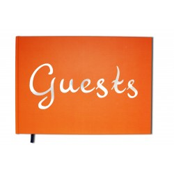 Guests orange - Format A4 paysage - Couverture mate - 100 pages - Qualité premium