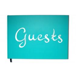 Guests bleu - Format A4 paysage - Couverture mate - 100 pages - Qualité premium