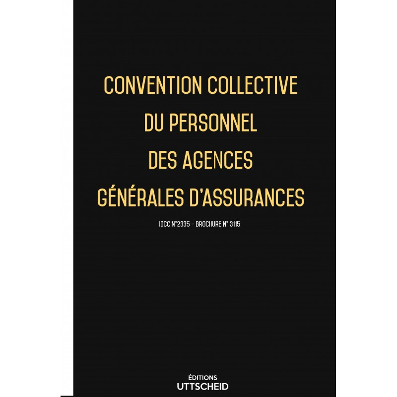 Convention collective du personnel des agences générales d'assurances FEVRIER 2017 + Grille de Salaire