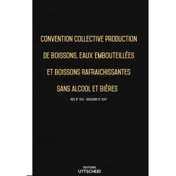 Convention collective de production de boissons, eaux et rafraichissantes sans alcool et bières Septembre 2018