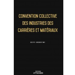 Convention collective des industries des carrières et matériaux Avril 2018 + Grille de Salaire