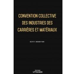 Convention collective des industries des carrières et matériaux Mars 2018 + Grille de Salaire