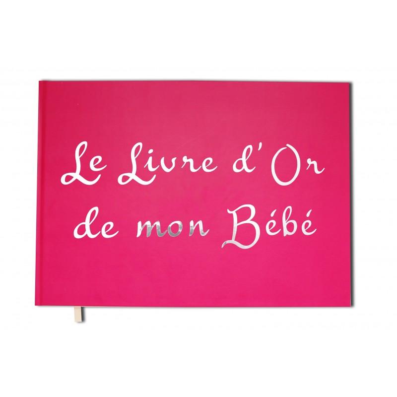 Livre D Or De Mon Bebe Format A4 Paysage Couverture Rose Mate