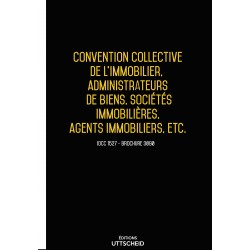 Convention collective nationale de l'immobilier, administrateurs de biens, sociétés immo, agents immo, etc. Avril 2018