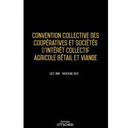 Convention collective des coopératives et sociétés d'intérêt collectif agricole bétail et viande Septembre 2018