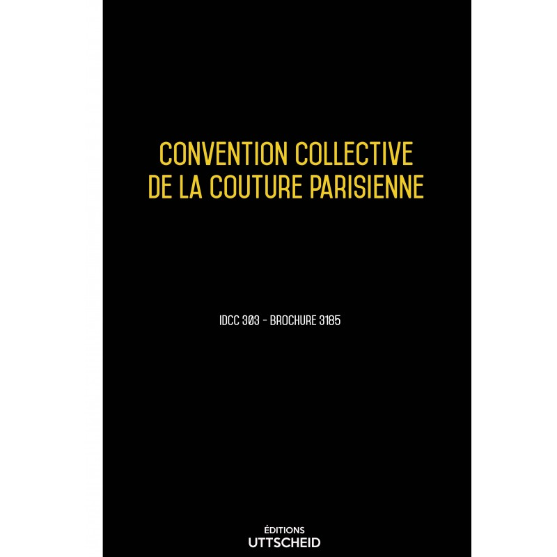 Convention collective de la couture parisienne AVRIL 2017 + Grille de Salaire