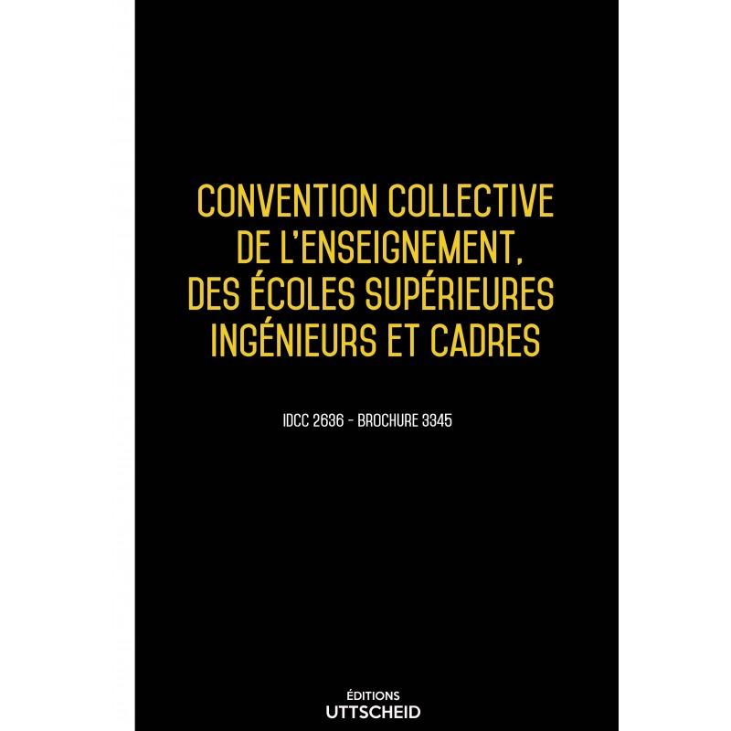Convention collective de l'enseignement, des écoles supérieures ingénieurs et cadres AVRIL 2017 + Grille de Salaire