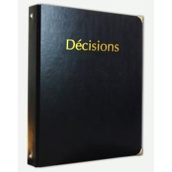 Registre des Décisions