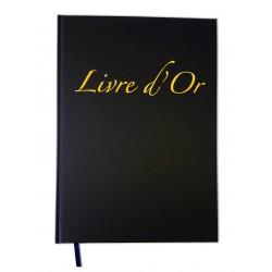Livre d'Or Format 21 x 29,7cm 100 pages Couverture Noire Format Portrait A4