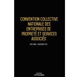 Convention collective nationale des entreprises de propreté et services associés + Grille de salaire Septembre 2018