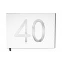 Livre d'or 40 ans - Anniversaire, Mariage, Retraite -  Lettres chromées -100 pages - Qualité premium - Uttscheid