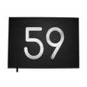 Livre d'or 59 ans - Anniversaire, Mariage, Retraite -  Lettres chromées -100 pages - Qualité premium - Uttscheid